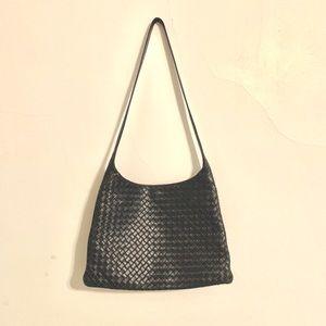 Authentic Bottega Veneta Black Shoulder Bag
